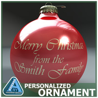 3d christmas bulb personalized