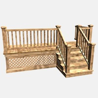 deck stairs architecturally 3ds
