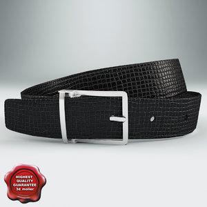 leather belt v2 c4d