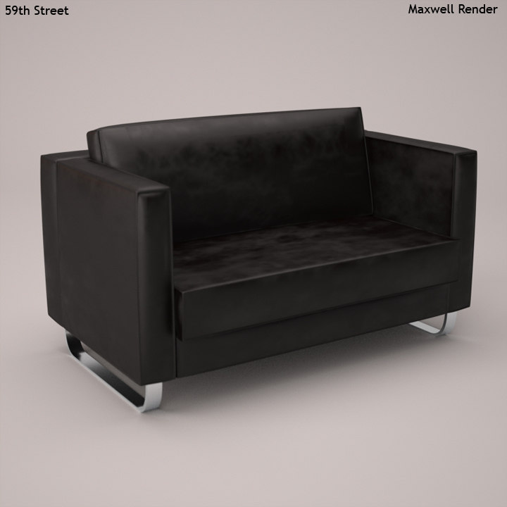 leather sofa 3d 3ds
