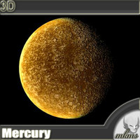 3d model realistic mercury planets