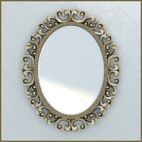 Mirror Lineatre Gold Componibile oval