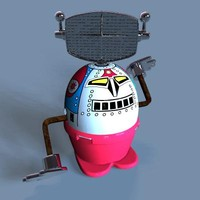 Moon Stroller Toy Robot