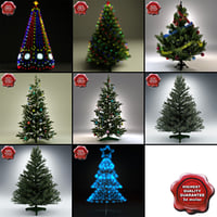 3d new year trees v5 model