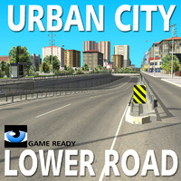 3d urban city lower road