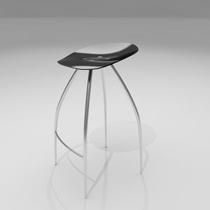rose bar stool 3d max