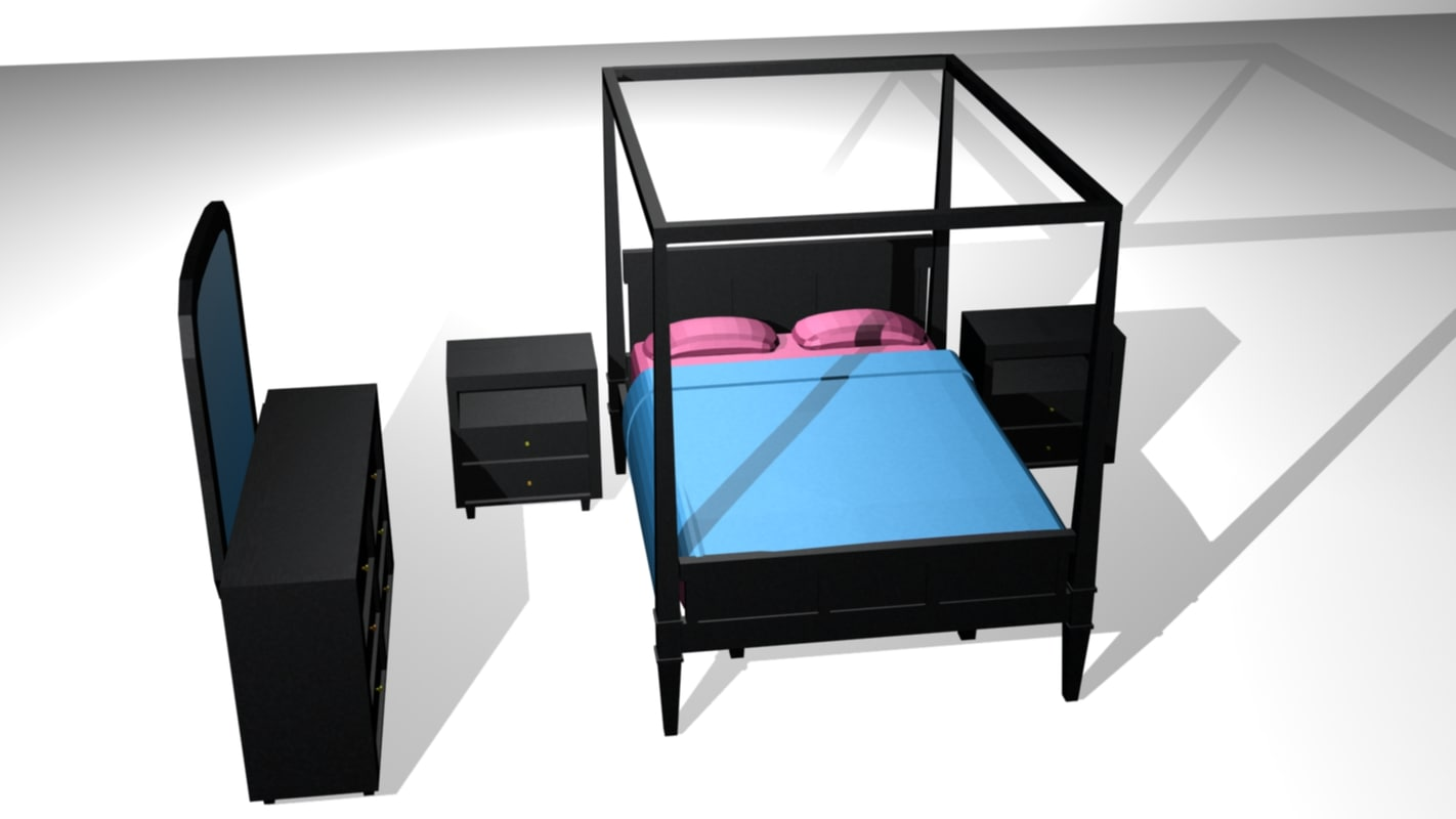 3d 3ds bedroom set