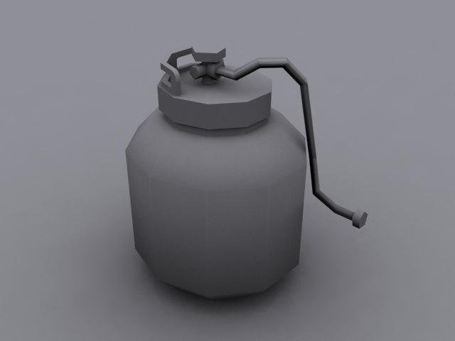 propane tank 3d max