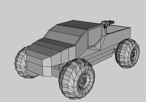 3ds truck turret
