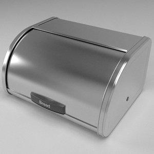 bread bin 3d model