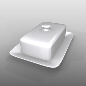 3d butter dish model