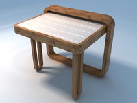3d compact table model