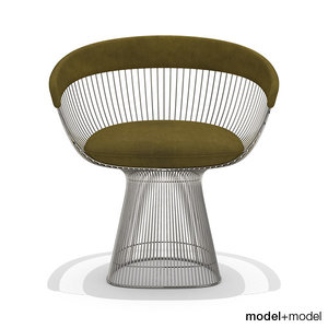 3ds max platner armchair knoll chairs