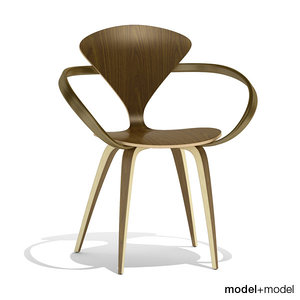 wood base armchair cherner chair 3d 3ds