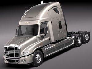 3d model of semi truck trailer