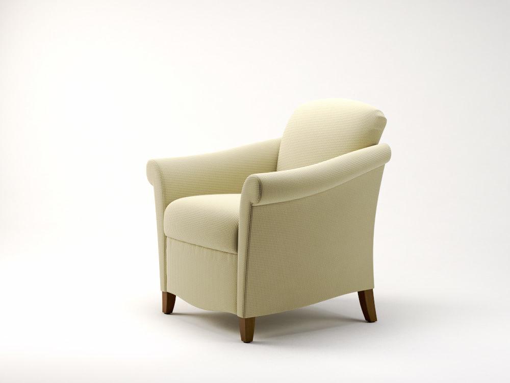 3ds max portrait lounge chair jofco