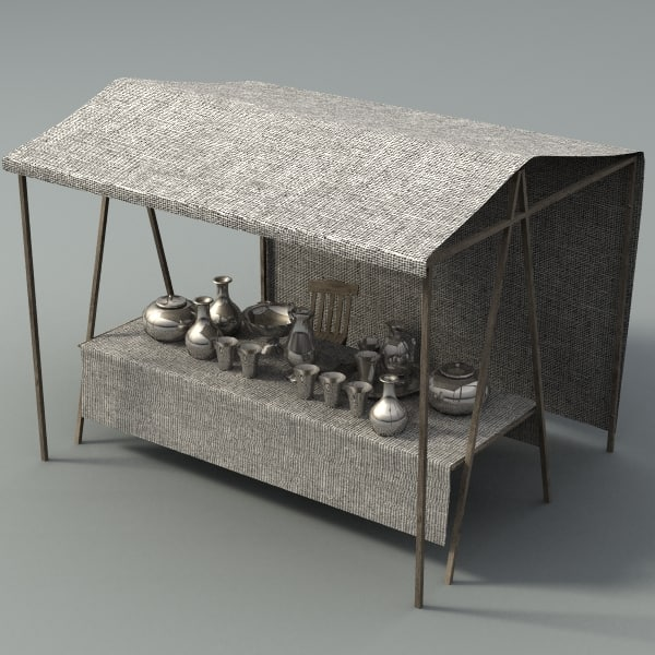 medieval fantasy marketstall 3d model
