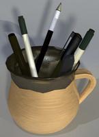 Assorted Pens in Mug