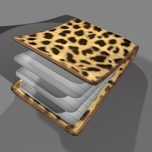 3d note pad model