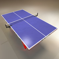 Low Polygon Ping Pong Table Blue