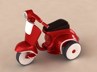 bicycle funny red 3d model