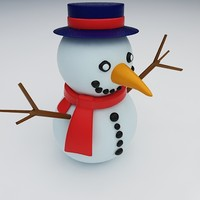 free snowman snow toy 3d model