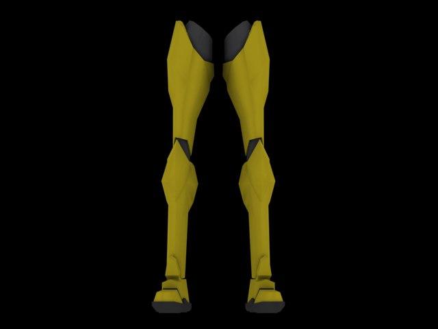 armored legs 3d model