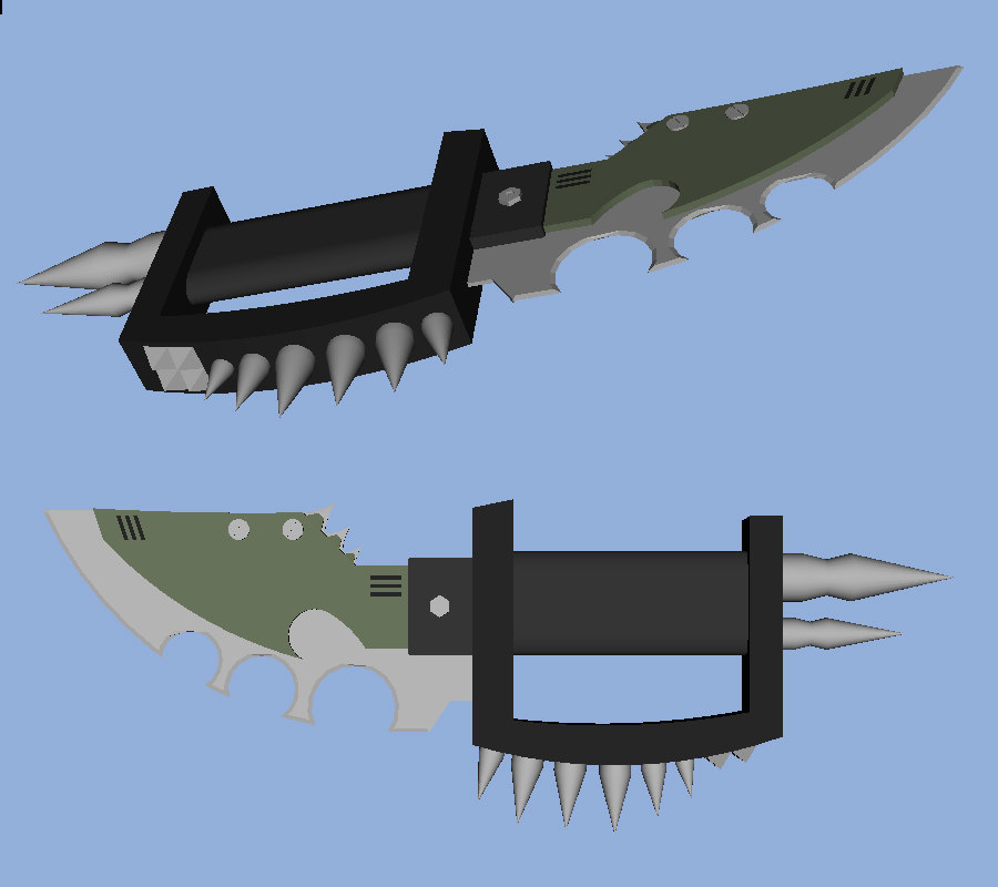 3d trench knife model