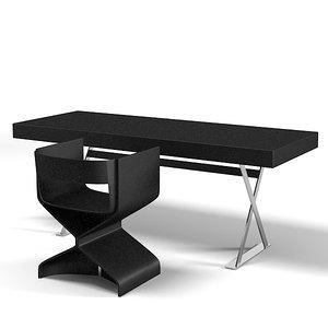 3d model vanity work table