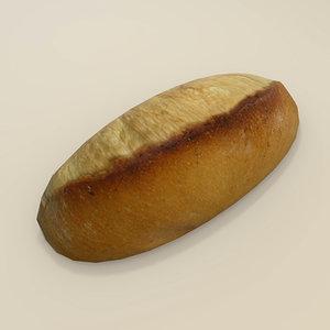 3d white bread