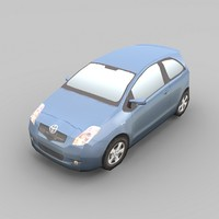 toyota yaris car 3d model