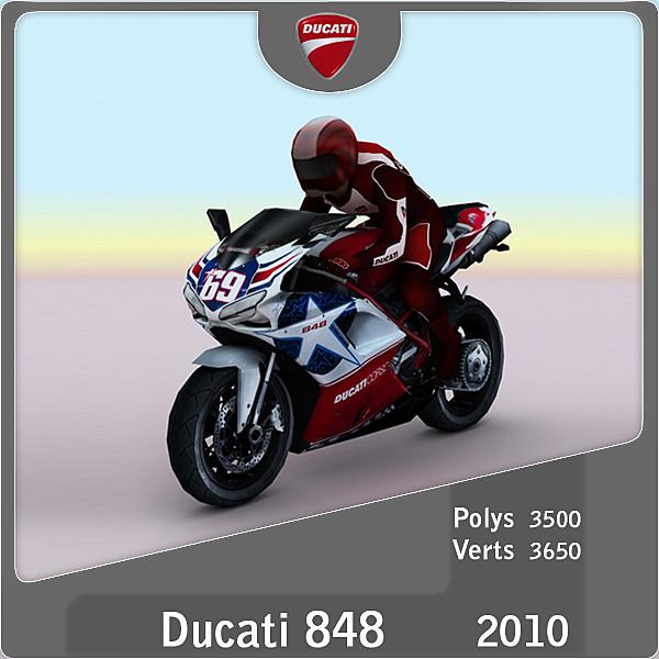 2010 ducati 848 3d model