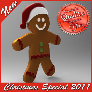 christmas ginger bread special 3d model