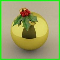 3d christmas ball model