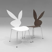 3d playboy bunny chair designer