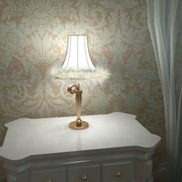 3d carlesso blanche lamp model