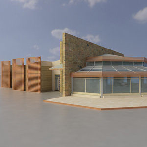 3d model multi purpose building