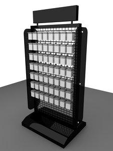 merchandise hanging rack 3d model