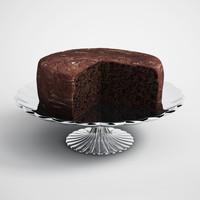 CGAxis 3D Model Chocolate Cake 12
