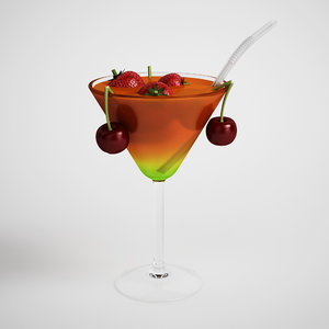 cocktail tropical 3d max