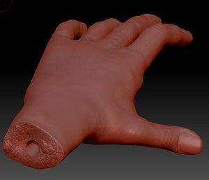 hand sculpture 3d 3ds