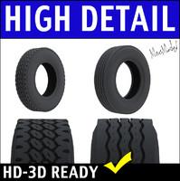 Semi Truck Tires 3D Model