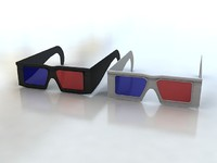 glasses red blue 3ds