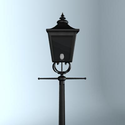 3d gas lamp street lighting