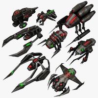 8 Sci Fi Alien Ships