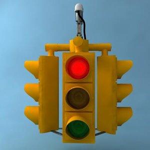 traffic light 3d max