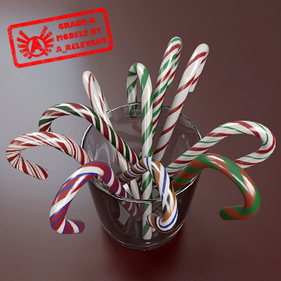 3dsmax candy cane cup 2010