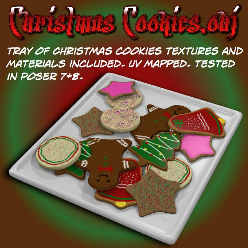 christmascookies christmas cookies 3d obj