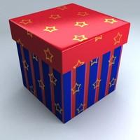 3d christmas gift box model