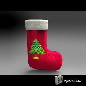 christmas sock stocking 3ds
